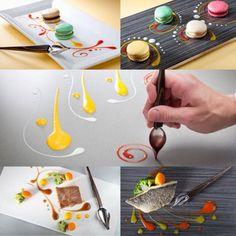 楽天市場 @RakutenJP シロップやソースをすくって、垂直に持ち、あとは自由に描くだけ。 このスプーンがあれば、お皿は絵になりますね。