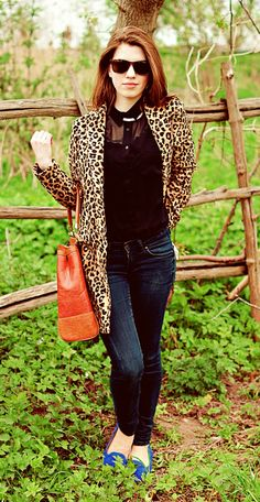 Leopard coat by Mango via wolffashion: my outfit: animal print coat