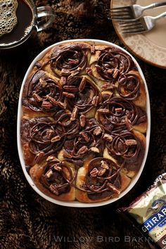 Gooey Turtle Brownie Sticky Buns OH NO