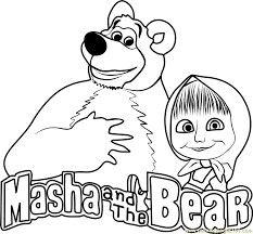 14 Mejores Imágenes De Masha Y El Oso Para Colorear Bear Coloring