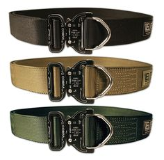 Stiffened Riggers Belt with Cobra D-Ring Buckle