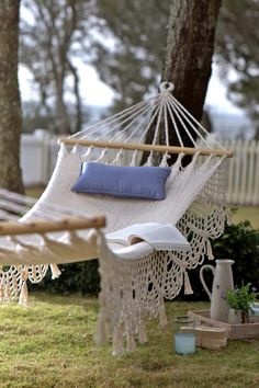 Hammock. I want to have almost my yard easy to take care of someday so I can spend most of my afternoons in one of these!