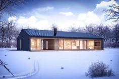 Helpful Tips For modern home design kitchen Modern Barn House, Modern Cottage, Modern House Design, House Layout Plans, House Layouts, House Plans, Casas Containers, Prefabricated Houses, Prefab Homes