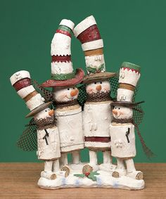 Another great find on #zulily! Snowman Forest Family Figurine #zulilyfinds