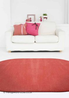 Home Comfort Plain Coral Oval Wool Rug Main Colors, Colours, Pink Rugs, Oval Rugs, Home Comforts, Wool Rug, Love Seat, Coral, Interior