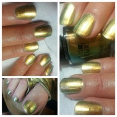 @Christine Caswell - Creative Nail Design Vinylux Gilded Pleasures #115 it's gold, it's green, it's bronze all in one bottle