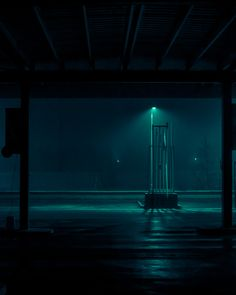 Dystopian Images Explore a Foggy Irish Town Drenched in Aquamarine Light - Dr Wong - Emporium of Tings. Dark Photography, Night Photography, Landscape Photography, Photography Basics, Scenic Photography, Aerial Photography, Landscape Photos, Abstract Landscape, Night Aesthetic