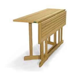 Barbuda Teak Rectangular Folding Table modern patio furniture and outdoor furniture