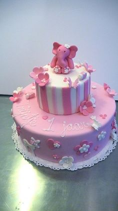 Little girl's 1st Birthday Cake by CAKE Amsterdam - Cakes by ZOBOT, via Flickr