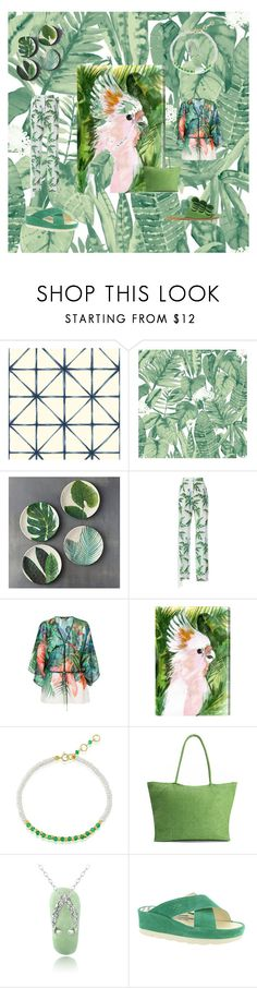 """I love the tropics"" by frenchcountryromantic ❤ liked on Polyvore featuring Ballard Designs, Tempaper, STELLA McCARTNEY, Roberto Cavalli, Oliver Gal Artist Co., Glitzy Rocks, Fly LONDON and Mercedes Castillo"