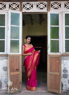 Milan is the ultimate choice for the fashionista in you. Milan offers a wide variety of Designer, Bridal & Wedding Sarees Online Kochi, Kerala, India. Kanjipuram Saree, Phulkari Saree, Saree Dress, Silk Sarees, Kurti, Indian Dresses, Indian Outfits, Engagement Saree, Black Lace Midi Dress