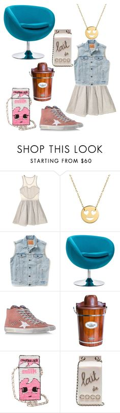 """""""🍦"""" by kittenkouture ❤ liked on Polyvore featuring Timo Weiland, Jane Basch, Levi's, Golden Goose, Nostalgia, MUA MUA, Chanel and Smmerdays"""