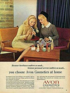 Avon Lipstick, April 1965 Avon Vintage Ad 1969. Headline: Once there was a women who thought she had everything until you gave her Christmas treasures from Avon. See our current 2016 HOLIDAY GIFT GUIDE — Find the presents that will make everyone on your list smile. SHOP NOW > http://www.avon.com/category/holiday/?c=repPWP&repid=cbrenda007