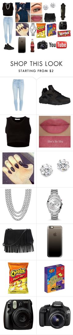 """""""Stuck in the moment ."""" by tashiralopez14 ❤ liked on Polyvore featuring beauty, Paige Denim, NIKE, Julien David, Kenneth Jay Lane, Henri Bendel, FOSSIL, White House Black Market, Retrò and Casetify"""