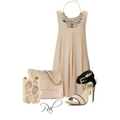 A fashion look from April 2013 featuring pink bodycon dress, plastic sandals and beige purse. Browse and shop related looks.