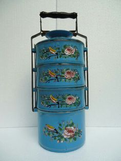 "A Peranakan tiffin carrier or ""tengkat"""