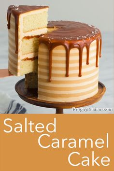 cake decorating 15621929944479970 - This moist, fluffy caramel cake from Preppy Kitchen has layers of vanilla yellow cake covered in homemade salted caramel and creamy caramel-infused Swiss meringue buttercream; it will set your heart aflutter! Source by Easy Cupcake Recipes, Easy Cheesecake Recipes, Best Cake Recipes, Dessert Recipes, Yellow Cake Recipes, Easy Birthday Cake Recipes, Birthday Cake Alternatives, Yellow Cakes, Birthday Cake Flavors