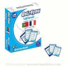 Jeu Quiz Portugais-Français de la marque portugaise Science4you vendu sur le site français www.portugalinbox.com