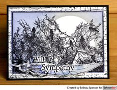 Sympathy card using Darkroom Door Birds On Tree Photo Stamp. Card by Belinda Spencer