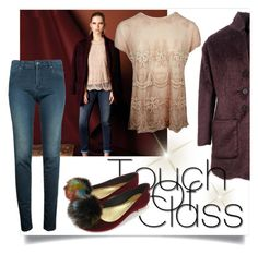 """""""touch of class"""" by tuaptstore on Polyvore featuring flats, coat, midseason and fw1617"""