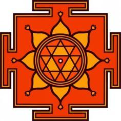 durga symbols | Durga Yantra Heilige Geometrie Symbol OM Mandala