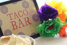 Free Cinco de Mayo taco bar printables | CatchMyParty.com