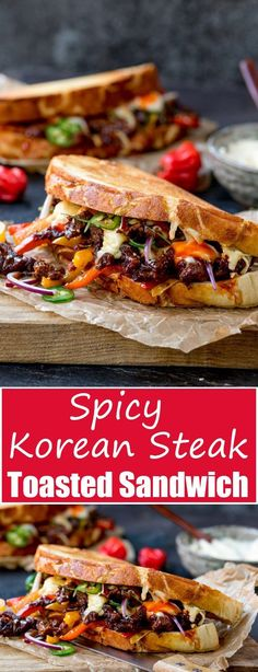 4463 best easy sandwich recipes images on pinterest kitchens this korean steak sandwich with jalapenos and garlic mayo is roll your eyes forumfinder Choice Image