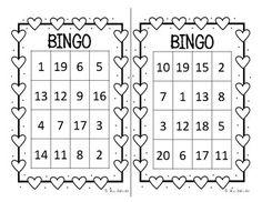 Valentine's Number Bingo 1-20 Bingo Cards, Task Cards, Valentine Bingo, Valentines, Teaching Materials, Kindergarten Math, Student Learning, Math Centers, Grade 1
