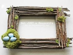 Twig Frame from Not Just a Housewife | Featured in Gooseberry Patch Fresh Picked Inspiration slideshow