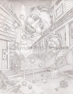 """ A Sudden Flash of Insight "" #surreal #pencildrawing #fineart"