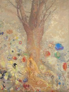 """Odilon Redon 1840 – 1916,  The Buddha, 1904. French symbolist painter, printmaker (litho), draughtsman and pastellist. """"My drawings inspire, and are not to be defined. They place us, as does music, in the ambiguous realm of the undetermined."""""""