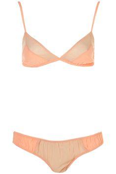 7f9be6de7eba Sparkle Chiffon Triangle Bra and Mini - Lingerie - Clothing