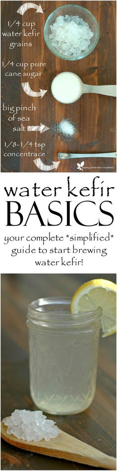 Water Kefir Basics – Raising Generation Nourished Water Kefir Basics :: Water kefir is an easy to make, naturally fermented drink that is allergen friendly and loaded with probiotics, B vitamins, and food enzymes. Kombucha, Sem Gluten Sem Lactose, Kefir Recipes, Probiotic Drinks, Fermentation Recipes, Fruit Smoothies, Homemade Smoothies, Fruit Juice, Lime Juice