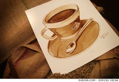 A técnica criativa do Coffee Art | Des1gn ON - Blog de Design e Inspiração.