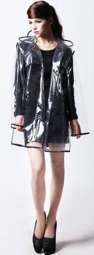 New Trending Outerwear: City Block Bearcat Transparent with Colorful Edge Fashion Raincoat (Black(Short Style)). Special Offer: $12.99 amazon.com Extremly soft, very light and portable. It satisfies the modern people to pursue the fashion. Weight: 0.25kgs. It can be taken, cleaned and laid easily. Material: Imported 100% EVA. The hat could not be detachable. Can be used at outdoor activities, just like...
