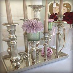 Kerzenständer Groß kerzenständer aus glas in bauern silber http weddstyle de