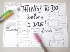 things to do before I die bullet journal di LaSoffittaDiSte