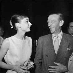 Audrey and Fred Astaire