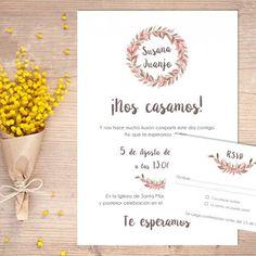 """Invitaciones de boda, colección """"Capvespre"""""""