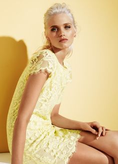 Abbey Lee Kershaw for Portmans lace for race