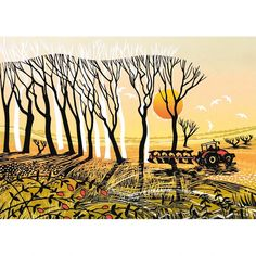 'Coming Home' by Printmaker Rob Barnes.      Blank Art Cards By Green Pebble. www.greenpebble.co.uk New Print, Forest Animals, Coming Home, Natural History, Printmaking, Moose Art, Arts And Crafts, My Arts, Greeting Cards