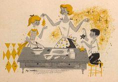 https://flic.kr/p/uTXBG | Christmas Ideas: Frosty charmers | From Better Homes & Gardens: Christmas Ideas, 1956. Illustrator: Roy Mathews.