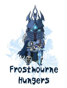 Fanart of Lich King, previously Arthas Menethil, from World of Warcraft (Blizzard Entertainment). Frostmourne Hungers