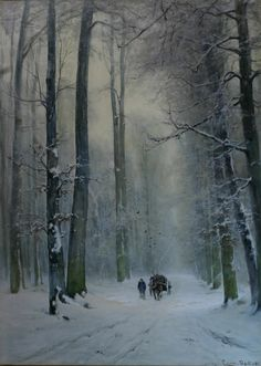 Louis Apol - Winters gezicht van het Haagse bos