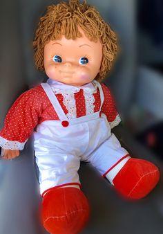Vintage Big Hard Plastic Doll (stuffed body)