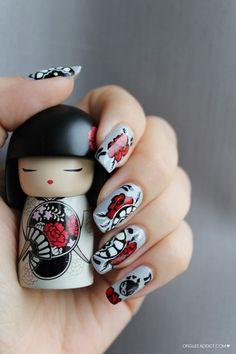 Japan nail art kimmi doll Omg that takes skill! Garra, Acrylic Nail Designs, Nail Art Designs, Acrylic Nails, Nail Art Kawaii, Japan Nail Art, Modern Nails, Japanese Nails, Cool Nail Art