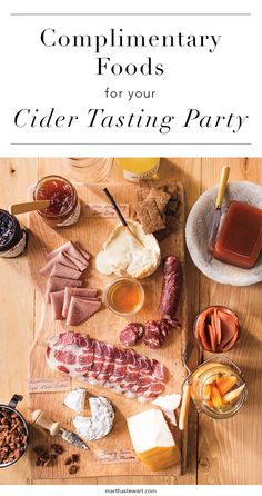 Cider was made to be enjoyed with food—in early America, its alcohol content rendered it safer to drink than water. Hosting your own tasting? Dan Pucci, cider director at Wassail, a cider restaurant in New York City, offers a few pairing suggestions.