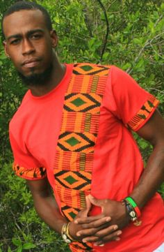 NEW African print Men kente t shirt design by MawusiClothing African Fashion Designers, African Men Fashion, Africa Fashion, African Fashion Dresses, Mens Fashion, Cheap Fashion, African Clothing For Sale, African Shirts For Men, Ankara Styles For Men
