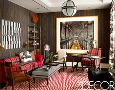 Believe it or not, tartan isn't just for the Christmas season. See some of our favorite tartan room ideas, which will inspire you to incorporate the timeless print into your decor. Elle Decor, Living Room Decor, Living Spaces, Living Rooms, Family Rooms, Best Interior, Interior Design, Interior Ideas, Boho Dekor