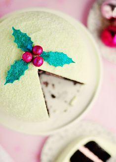 Resplendently Pretty Winter Delight Peppermint Cake